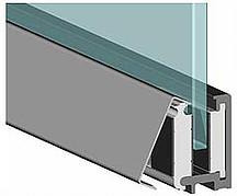 Монтаж стеклянной панели в зажимном профиле