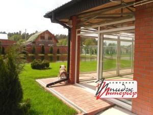 Фото раздвижные пластиковые окна Патио с другого ракурса