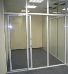 Межкомнатная раздвижная стеклянная перегородка