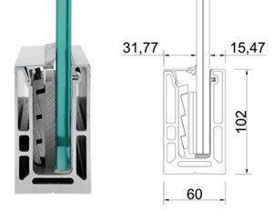 монтаж стеклянных конструкций перегородок
