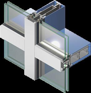 Остекление фасада, алюминиевый профиль KRAUSE KRF-50