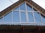 Остекление фронтона деревянного дома окнами ПВХ