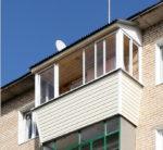 Остекление балкона алюминиевыми окнами