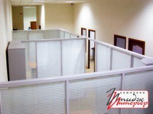 Перегородка для зонирования пространства в офисе пластиковая