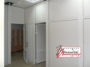 Офисные перегородки закрытого типа
