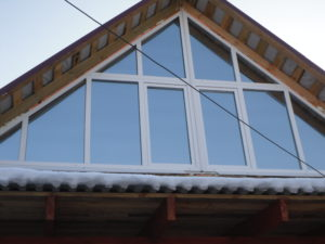 Остекление окнами пвх мансарды