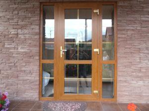 Дверь входная из ПВХ ламинированная
