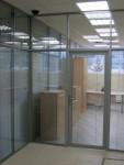 Офисные перегородки с жалюзи встроенными