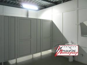 Туалетные кабины из профиля ПВХ и алюминия