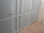 Перегородки для туалета из алюминия