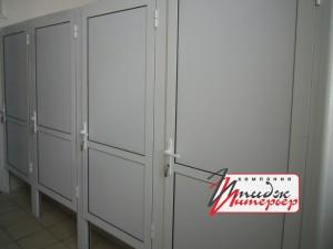 Перегородки для туалета с дверьми