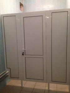 Туалетная кабина пластиковая из ПВХ