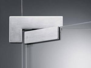Фитинги для стеклянных дверей шлифованная сталь