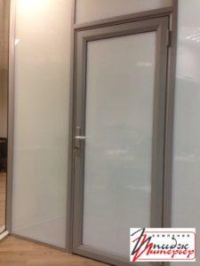 Алюминиевая дверь с матовым стеклом